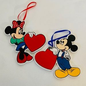 Mickey & Minnie Mouse Vintage Christmas Ornaments